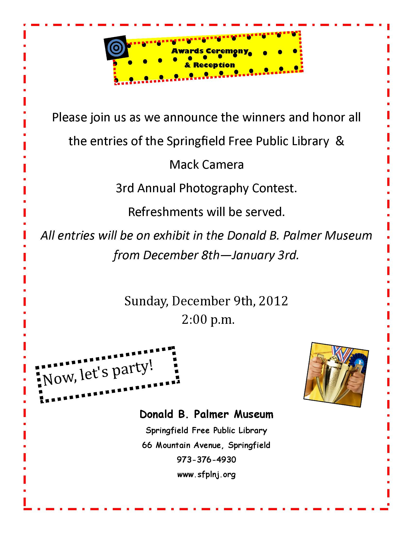 3rd annual photo contest 2012